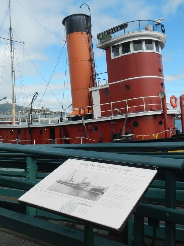 Steam Tug <i>Hercules </i> and Marker image. Click for full size.