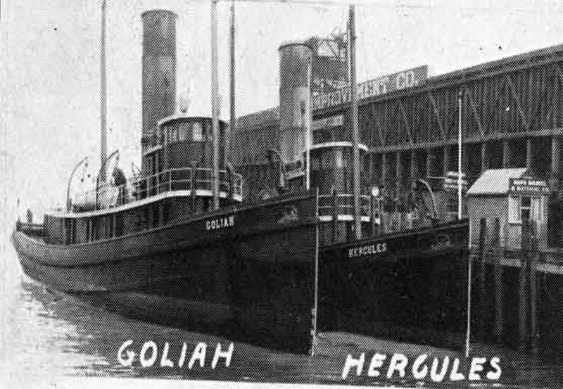 Steam Tug <i>Hercules </i> Marker image. Click for full size.