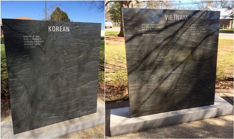 Korean War and Vietnam War Honor Roll image. Click for full size.