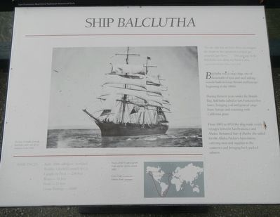 Ship <i>Balclutha</i> Marker image. Click for full size.