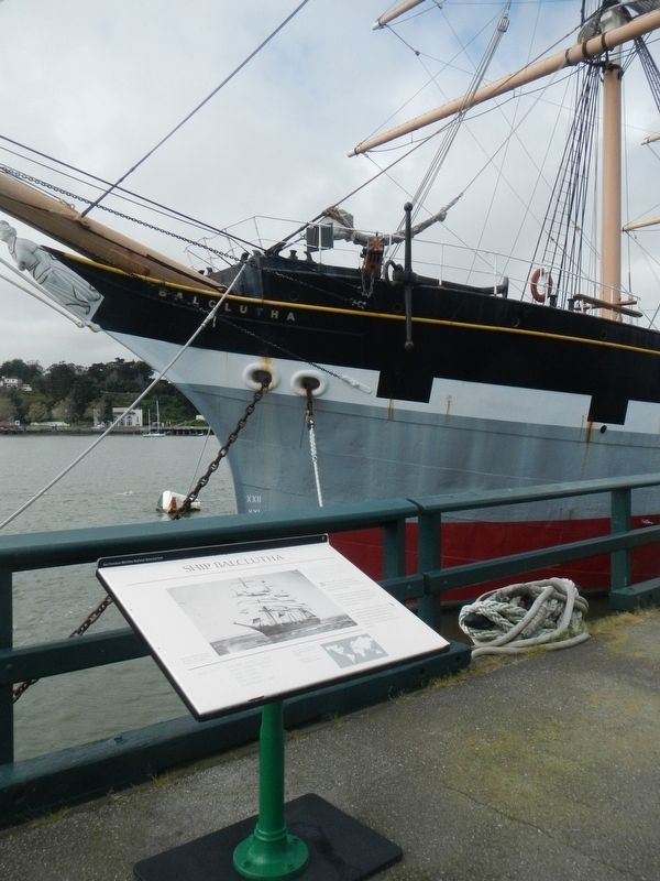 Ship <i>Balclutha</i> and Marker image. Click for full size.
