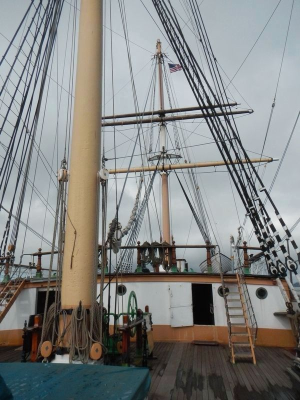 Main and mizzen masts of the Ship <i>Balclutha</i> image. Click for full size.