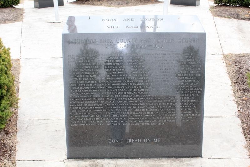 Casualties Knox County and Loudon County Viet Nam 1959 - 1975 image. Click for full size.