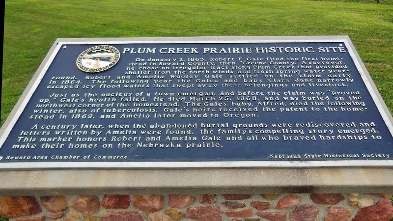 Plum Creek Prairie Historic Site Marker image. Click for full size.