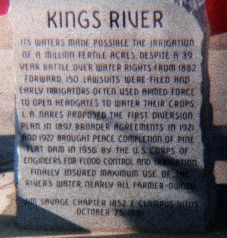 Kings River Marker image. Click for full size.