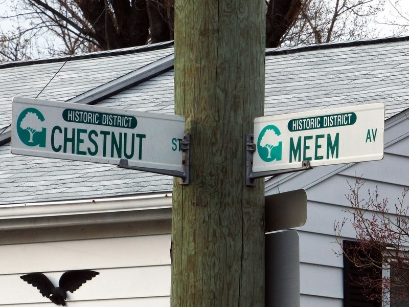 Chestnut Street and Meem Avenue image. Click for full size.