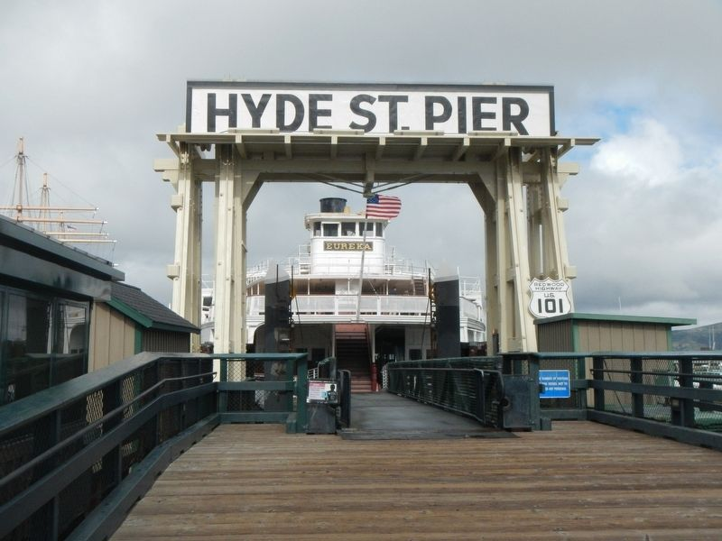 Hyde Street Pier and the ferryboat <i>Eureka</i> image. Click for full size.