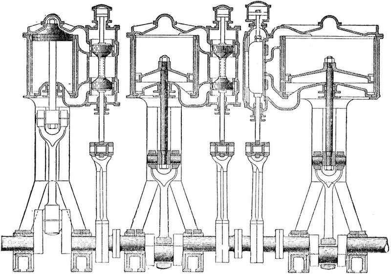 Cross-section of a Triple-Expansion Steam Engine image. Click for full size.