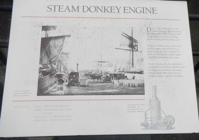Steam Donkey Engine Marker image. Click for full size.