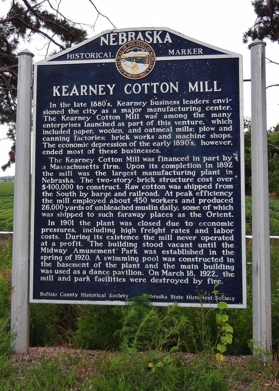Kearney Cotton Mill Marker image. Click for full size.