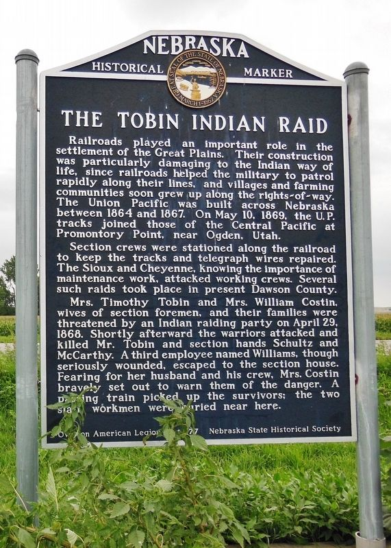The Tobin Indian Raid Marker image. Click for full size.