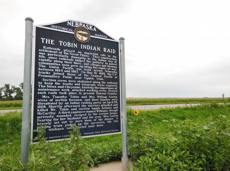 The Tobin Indian Raid Marker (<b><i>wide view</b></i>) image. Click for full size.