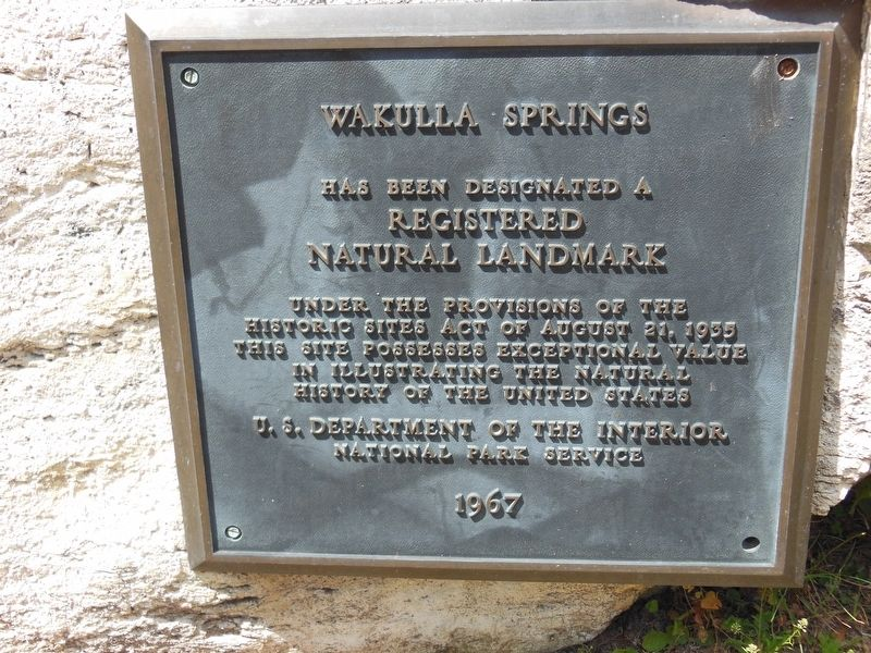 Wakulla Springs Registered Natural Landmark 1967 image. Click for full size.