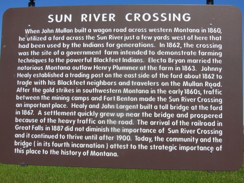 Sun River Crossing Marker image. Click for full size.