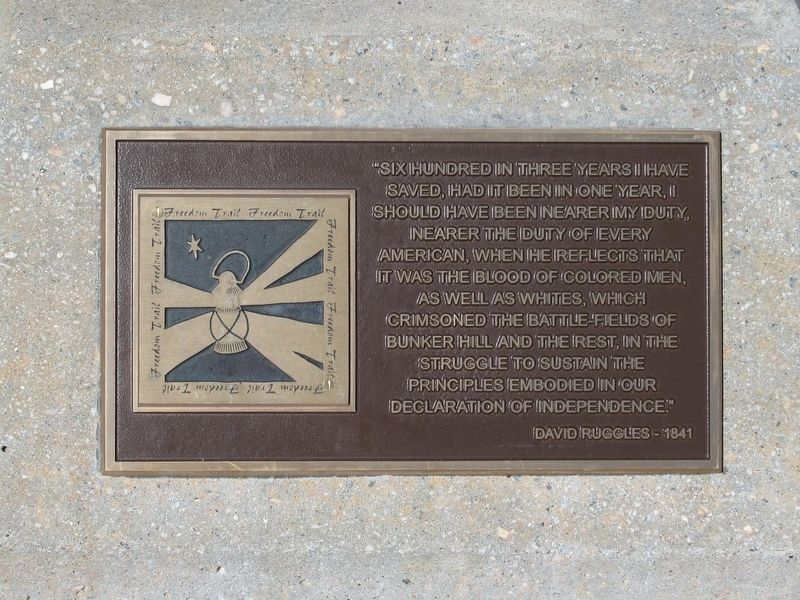 Plaque at the base of the Arch image. Click for full size.