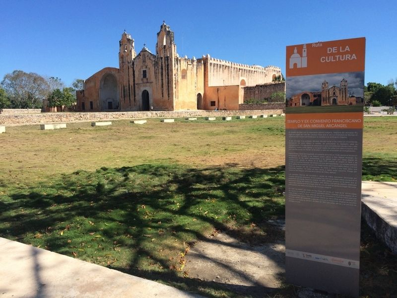 The Franciscan Temple and Ex-Convent of San Miguel Arcángel Marker image. Click for full size.
