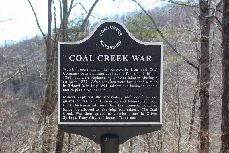 Coal Creek War Marker image. Click for full size.