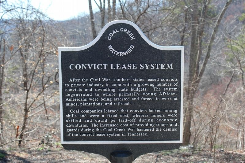 Convict Lease System Marker image. Click for full size.