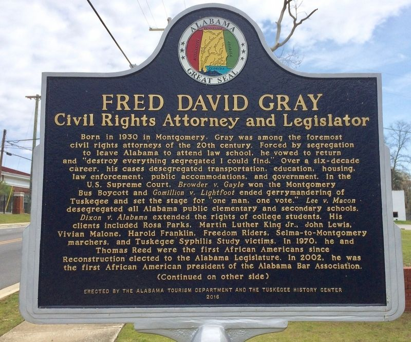 Fred David Gray Marker (Side 1) image. Click for full size.