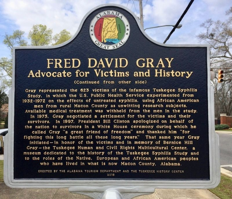 Fred David Gray Marker (Side 2) image. Click for full size.
