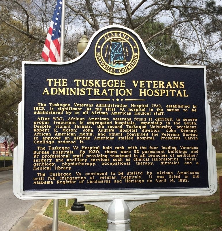 The Tuskegee Veterans Administration Hospital Marker image. Click for full size.