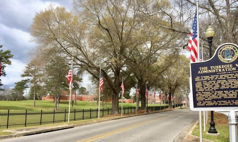 A part of Tuskegee Veterans Administration Hospital in background. image. Click for full size.