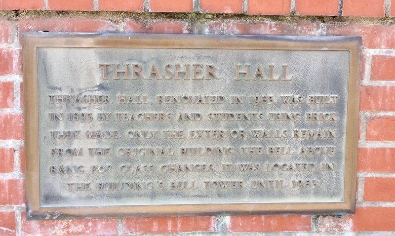 Thrasher Hall Plaque image. Click for full size.