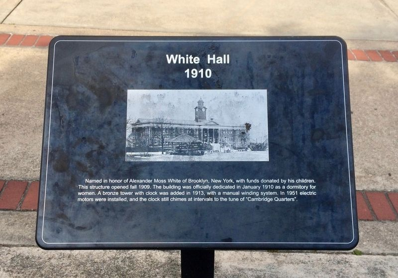 White Hall Marker image. Click for full size.