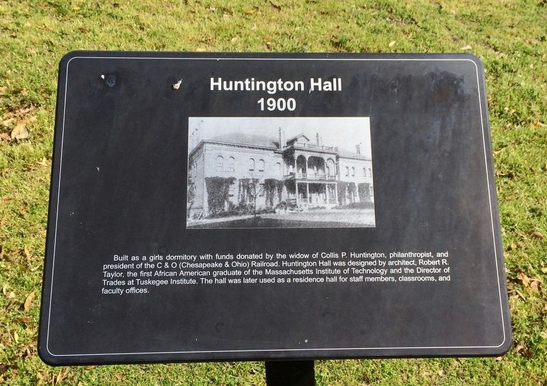 Huntington Hall Marker image. Click for full size.