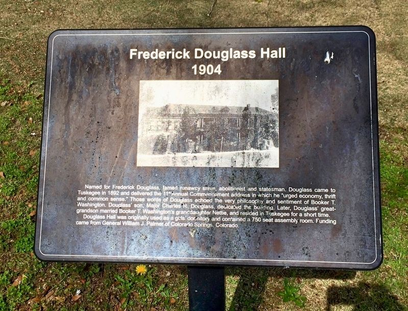 Frederick Douglass Hall Marker image. Click for full size.