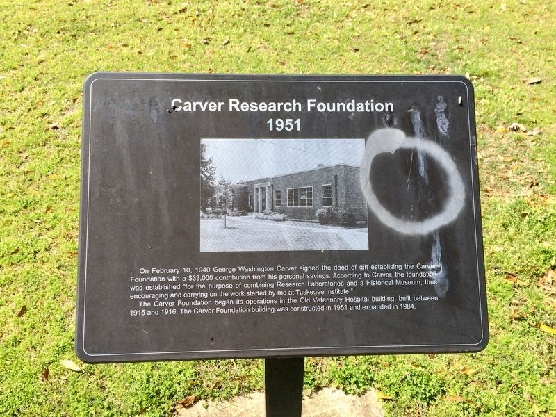 Carver Research Foundation Marker image. Click for full size.