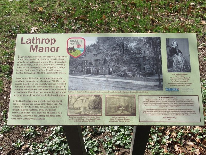 Lathrop Manor Marker image. Click for full size.