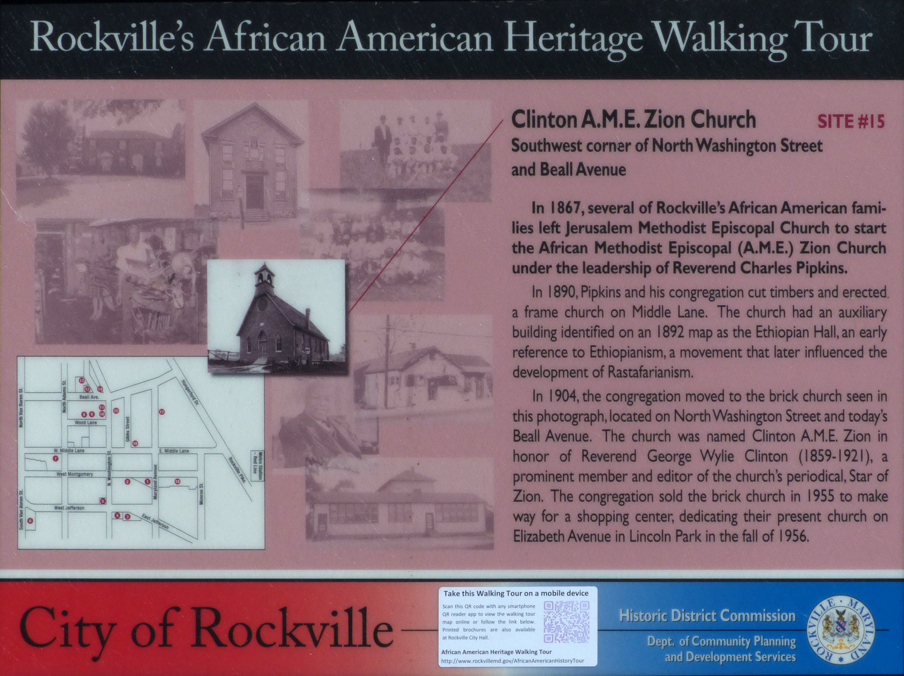 Clinton A.M.E. Zion Church Marker