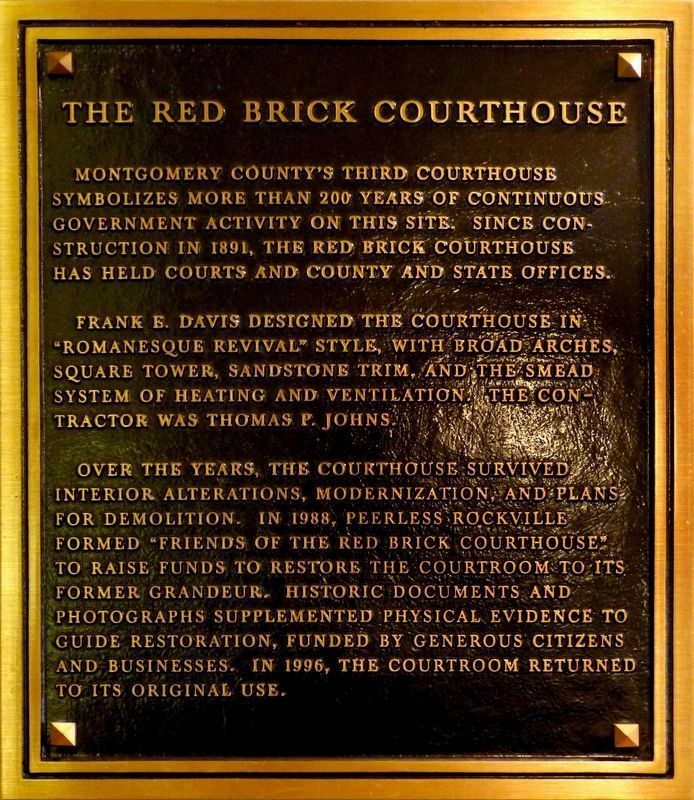 The Red Brick Courthouse image. Click for full size.
