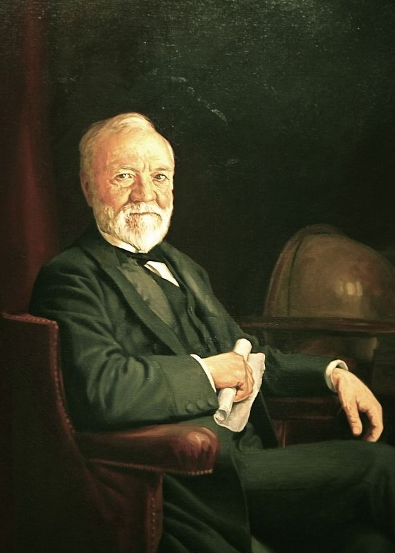 Portrait of Andrew Carnegie as he appears in the National Portrait Gallery in Washington, D.C. image. Click for full size.