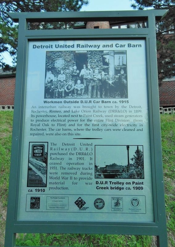 Detroit United Railway and Car Barn Marker image. Click for full size.