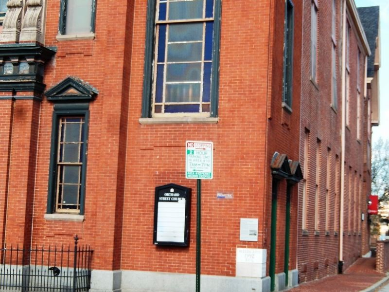 Orchard Street Church Marker image. Click for full size.