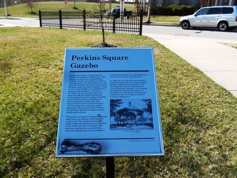 Perkins Square Gazebo Marker image. Click for full size.