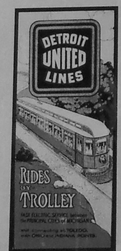 Detroit United Trolley Poster ca. 1910 (<b><i>marker inset</b></i>) image. Click for full size.