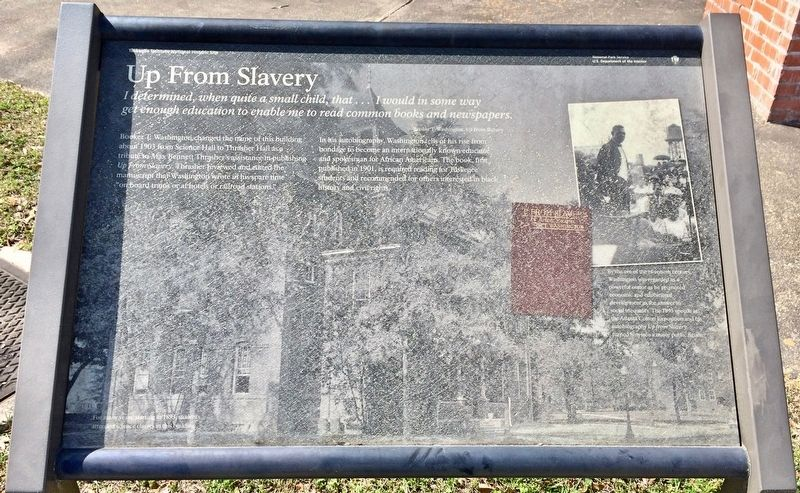 Up From Slavery Marker image. Click for full size.