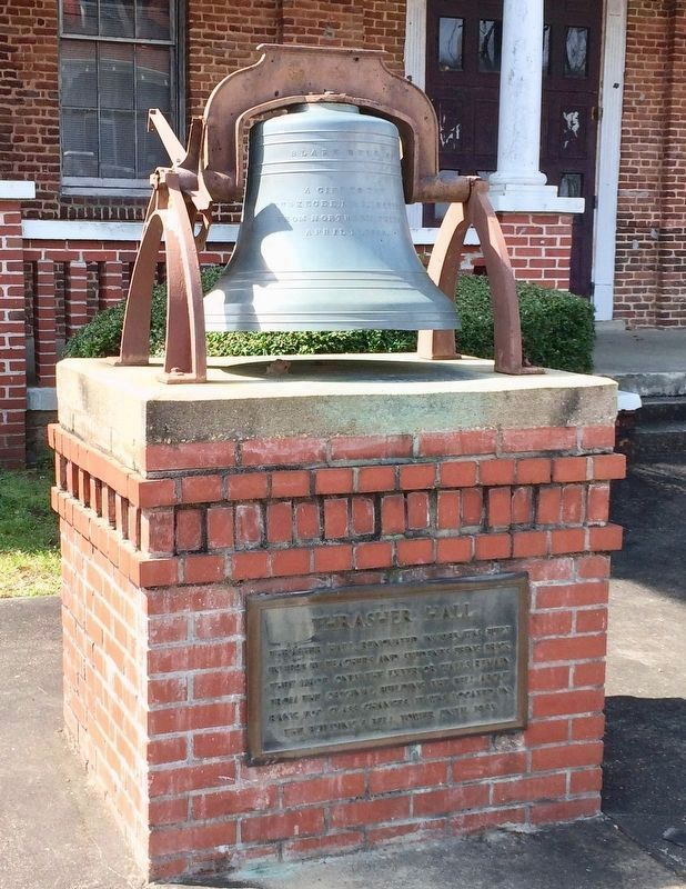 Bell located in front of Thrasher Hall. image. Click for full size.