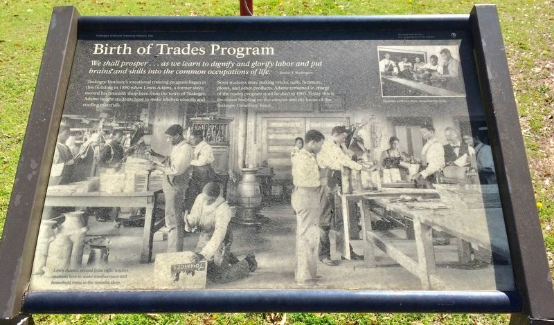 Birth of Trades Program Marker image. Click for full size.