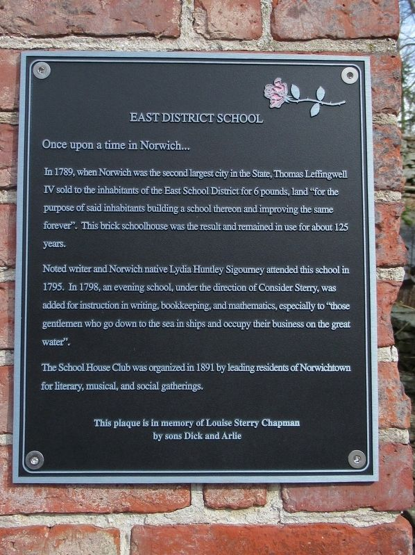 East District School Marker image. Click for full size.