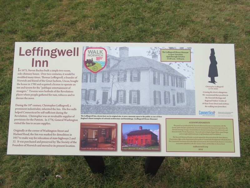 Leffingwell Inn Marker image. Click for full size.