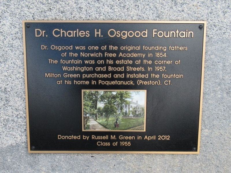 Dr. Charles H. Osgood Fountain Marker image. Click for full size.
