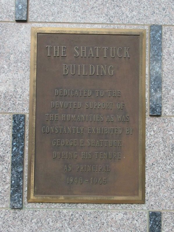 The Shattuck Building Marker image. Click for full size.