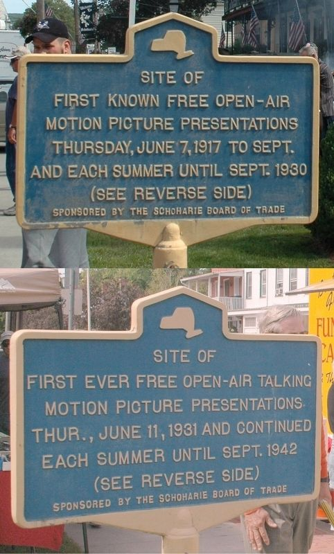 Schoharie Free Movies Marker image. Click for full size.