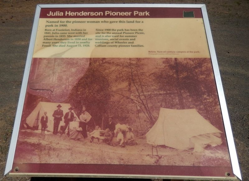 Julia Henderson Pioneer Park Marker image. Click for full size.