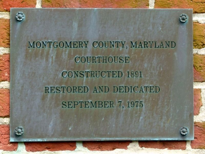 Montgomery County, Maryland<br>Courthouse image. Click for full size.
