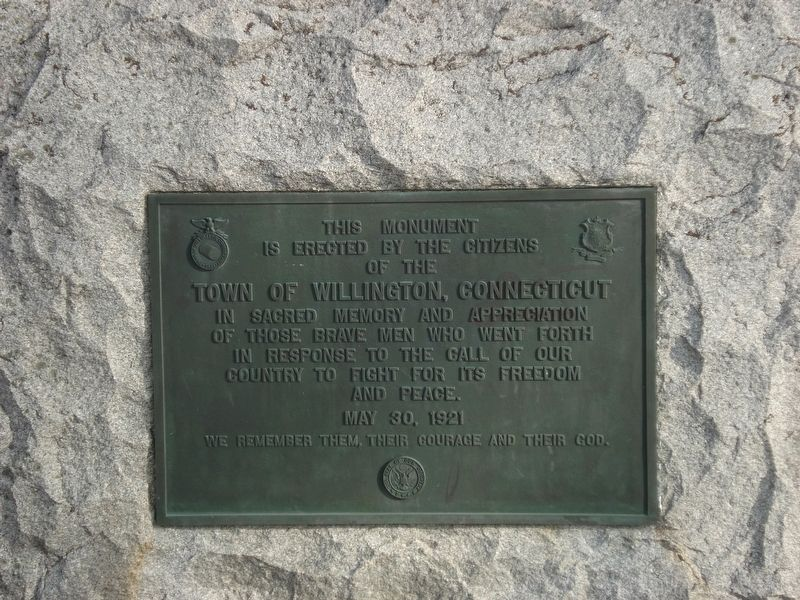 Town of Willington, Connecticut Marker image. Click for full size.